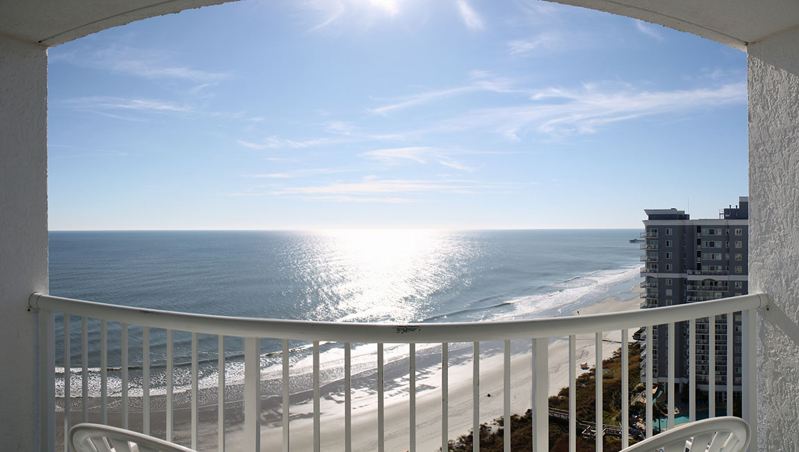 Oceanfront 1 Bedroom Doubles-Balcony