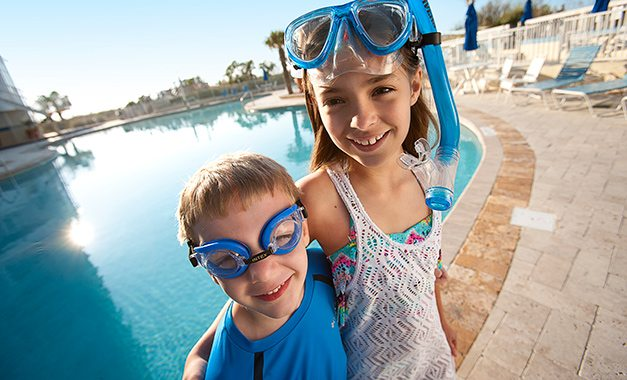 Kids at Sea Watch Resort