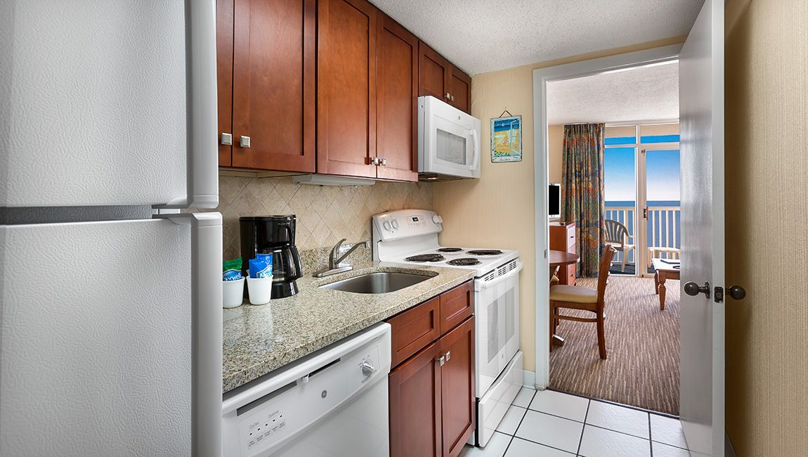 Oceanfront One Bedroom Doubles Kitchen