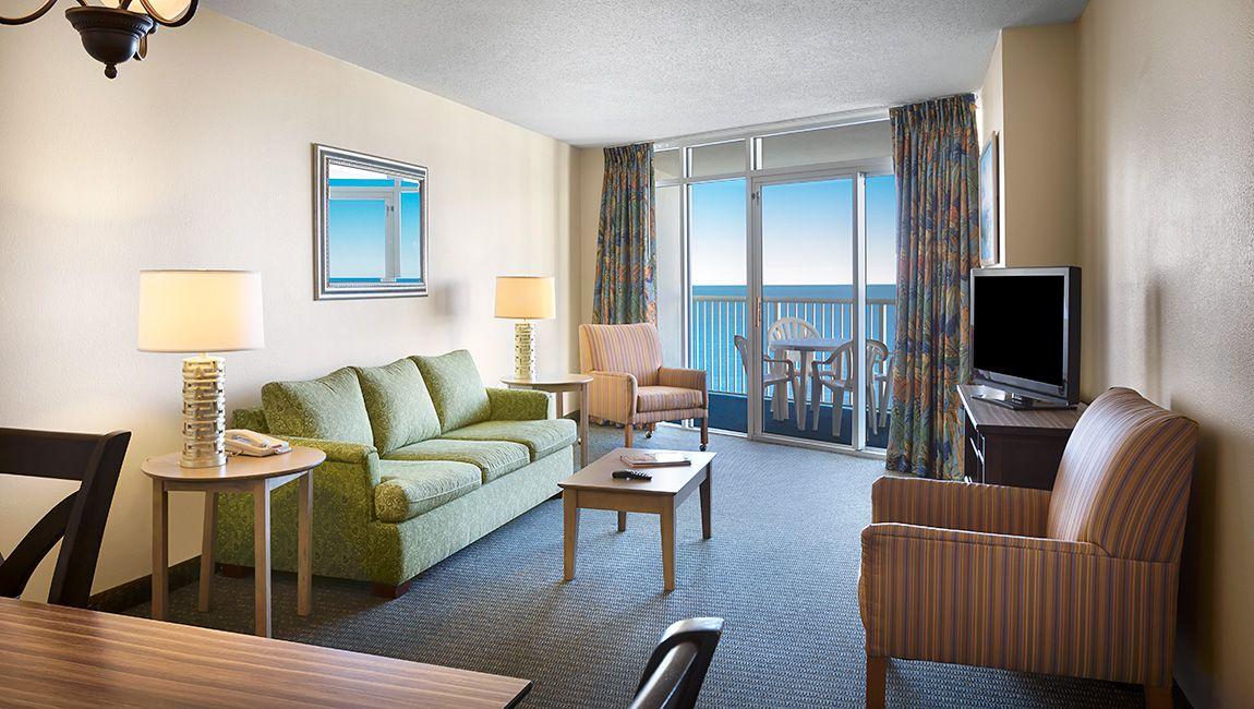Oceanfront Two Bedroom Living Area