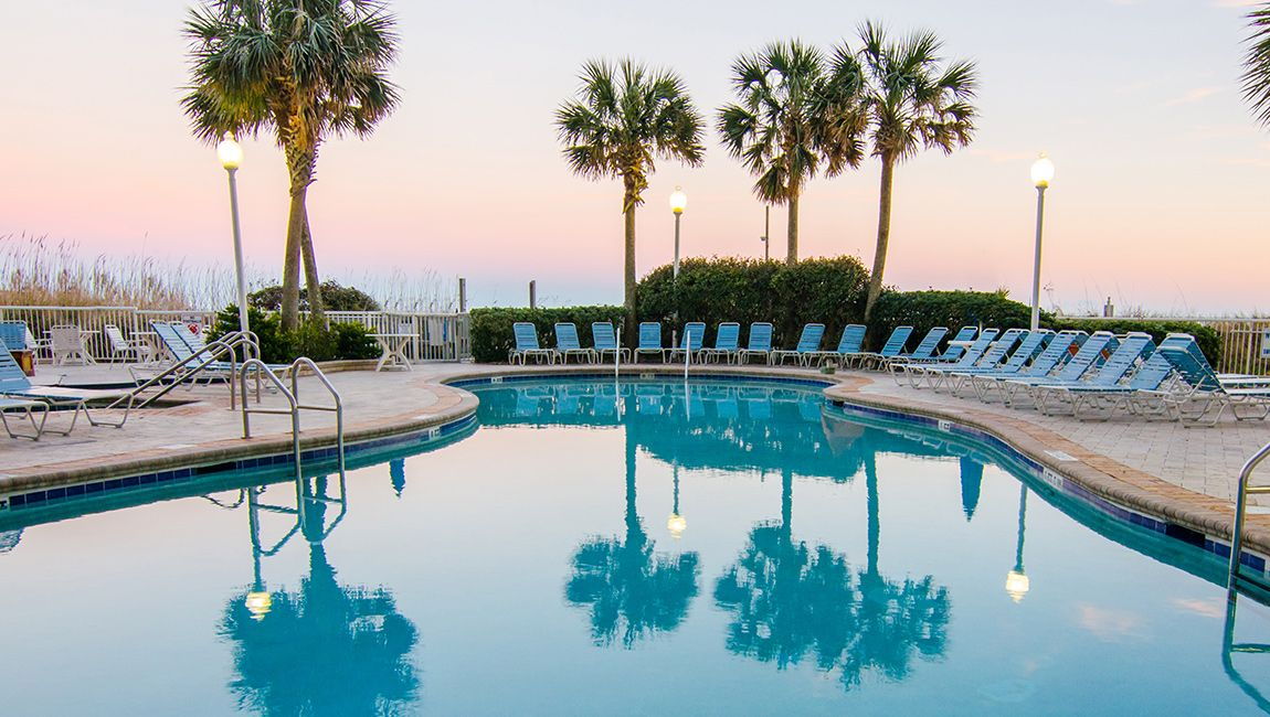 Myrtle Beach Pool At Dusk